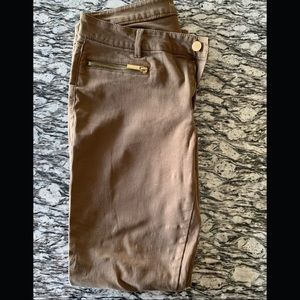 Michael Kors Jeans - Michael Kors Brown Jeans w Gold Zippers